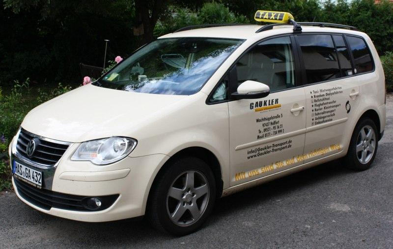 Taxi Gaukler Haßfurt - VW Touran